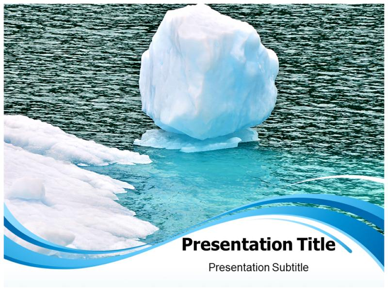 Melting glacier Powerpoint Templates