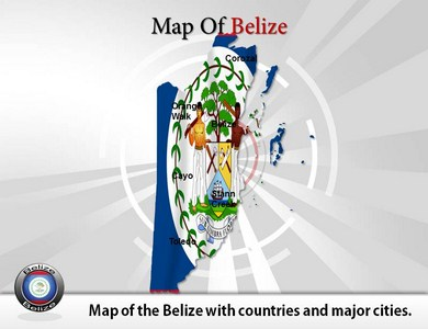 Map of Belize  PowerPoint Templates