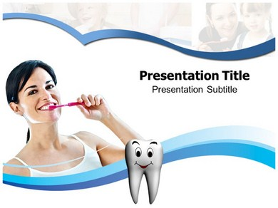 Tooth Brushing Technique Powerpoint Templates