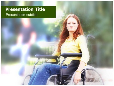 Orthopedic Wheelchair Powerpoint Templates