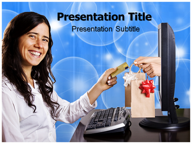 E shopping Powerpoint Templates