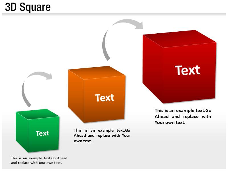 3D Cube Powerpoint Templates