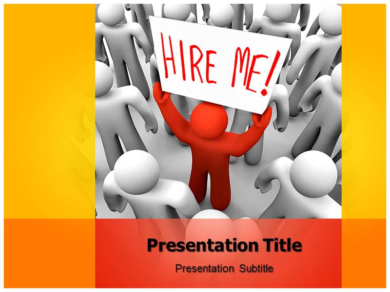 Hire Me Powerpoint Templates