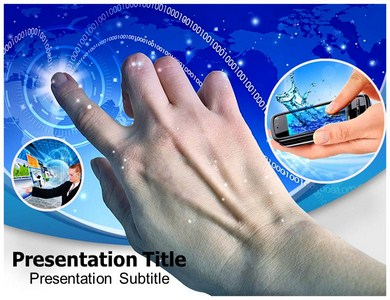 Touch Screen Technology Ipad Powerpoint Templates