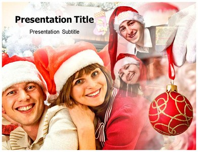 Christmas Family Night Powerpoint Templates