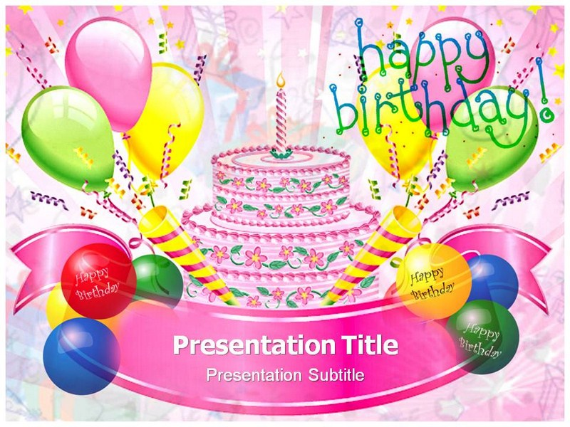 Happy Birthday Cards Powerpointppt Template Birthday Powerpoint