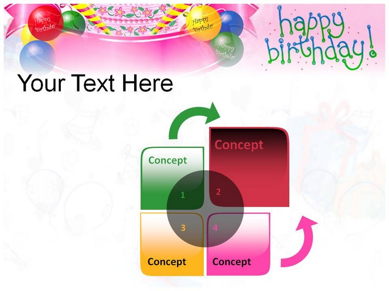 happy birthday cards powerpoint(ppt) template | birthday, Powerpoint templates