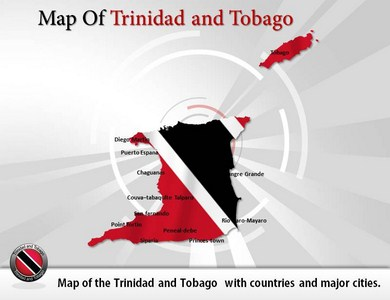 Map-of-Trinidad-and-Tobago  PowerPoint Templates