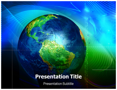 Globe Illustration Powerpoint Templates