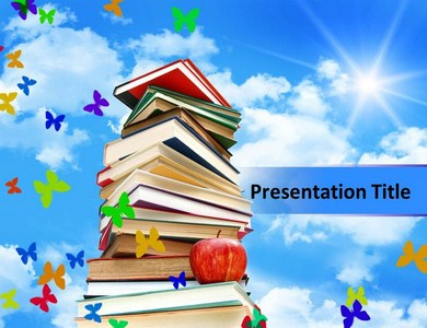Books and Papers Powerpoint Templates