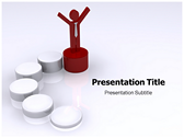 Success Ladder powerPoint template