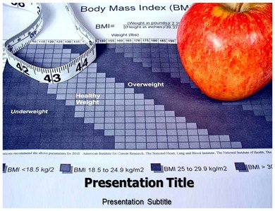 Body Mass Index Fitness Chart Powerpoint Templates