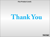 Five Product Levels powerpoint backgrounds download