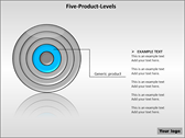 Five Product Levels background PowerPoint Templates