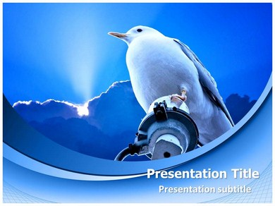 Bird and Sky Powerpoint Templates