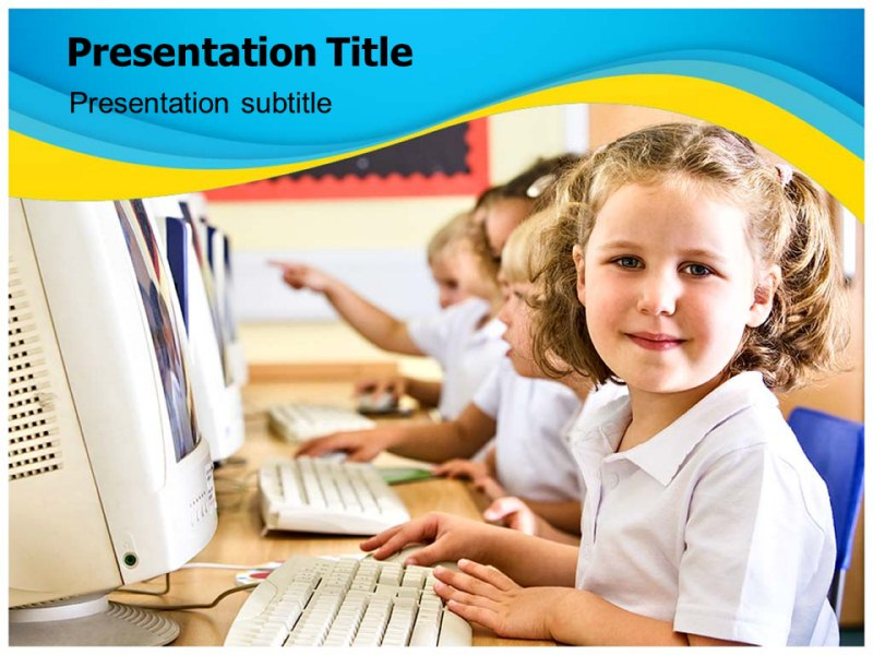 computer classes Powerpoint Templates