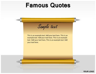 famous quotes powerpoint templates slides
