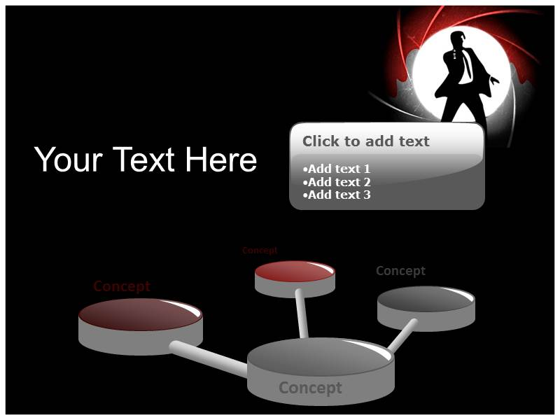 James Bond Silhouette Powerpoint Template Template Powerpoint