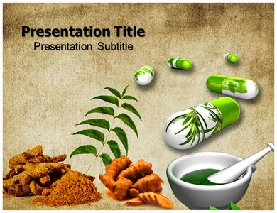 Herbal medicine Powerpoint Templates