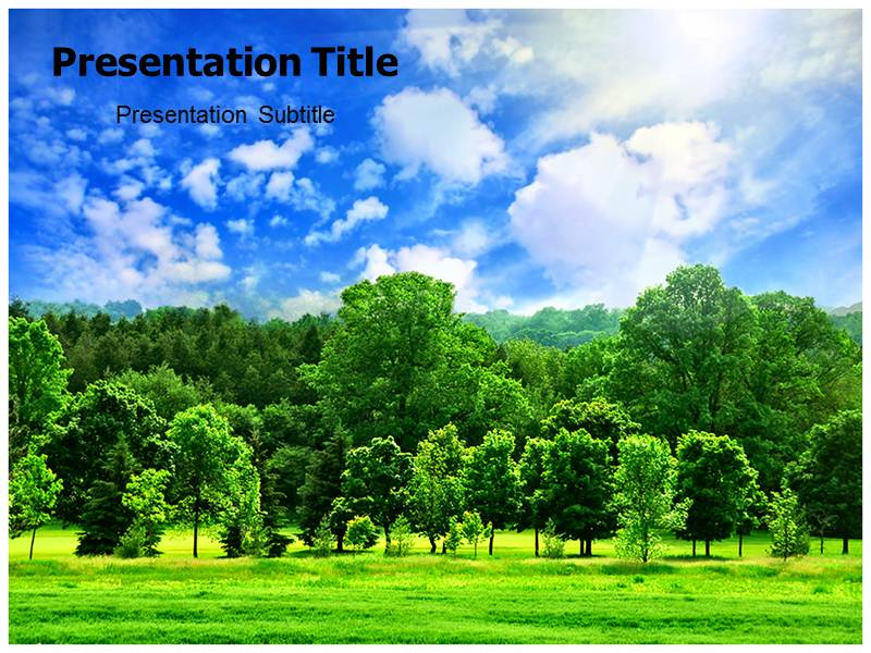 Powerpoint Ppt Templates On Nature Scenery Nature Template For