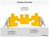 3D Square Man Puzzle powerpoint template download