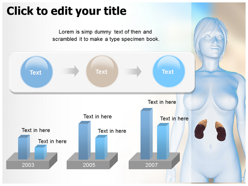 Female Adrenal Powerpoint Templates
