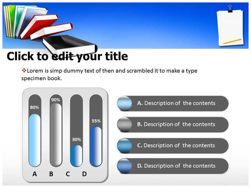 Books Paper Illustration 1 Powerpoint Templates