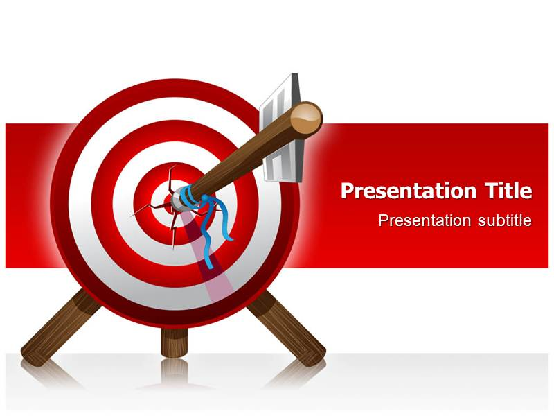 powerpoint presentation on target background | powerpoint, Modern powerpoint