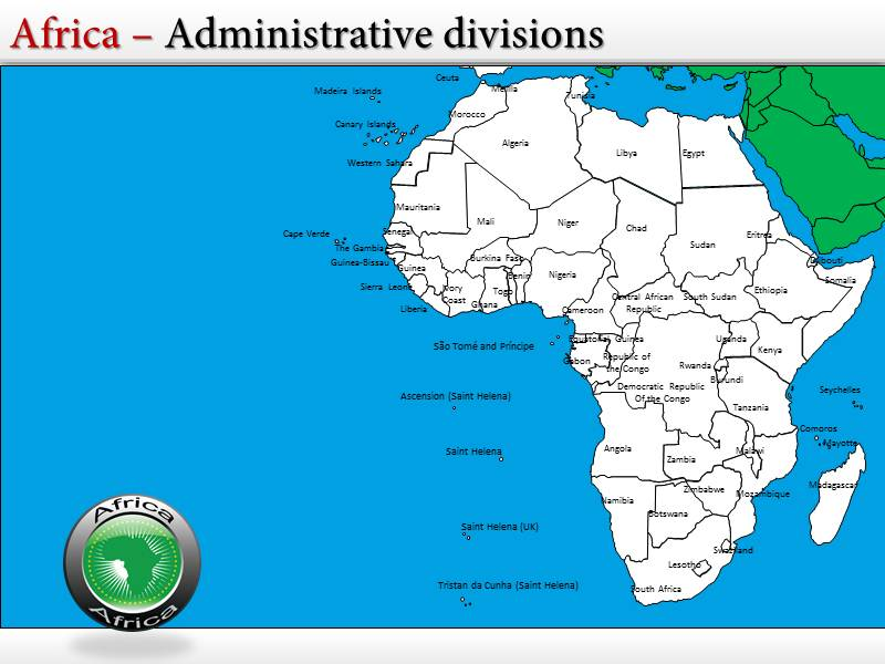 Africa map powerpointppttemplates interactive africa maps for my toneelgroepblik Images