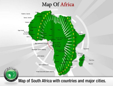 Map of Africa  PowerPoint Templates