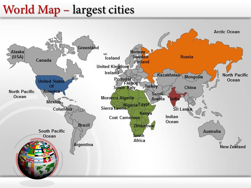 Map Of Africa Powerpoint Map Map Of Africa Powerpoint Slide World