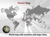 World Map Atlas  powerPoint template