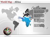 World Map Atlas  power Point templates