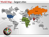 World Map Atlas  power Point Backgrounds