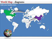 World Map Atlas  themes for power point