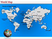 World Map Atlas  power point background templates