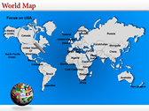 World Map Atlas  powerPoint themes
