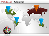 World Map Atlas  powerpoint slides download