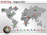 World Map Atlas  powerpoint themedownload