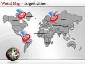 World Map Atlas  powerpoint themetemplates