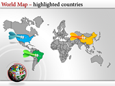World Map Atlas  ppt backgrounds