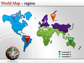 World Map Atlas  powerpoint themes download