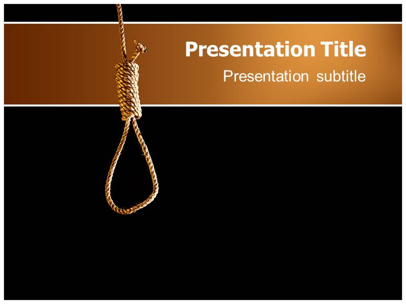 powerpoint template of depression | depression ppt template, Presentation templates