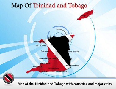 Trinidad and Tobago Counties Map  PowerPoint Templates