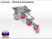 Armenia map  powerpoint backgrounds download