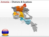 Armenia map  power Point Backgrounds