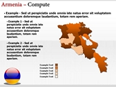 Armenia map  themes for power point