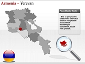 Armenia map  ppt backgrounds