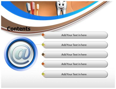 Toothbrush Rug Powerpoint Templates Powerpoint
