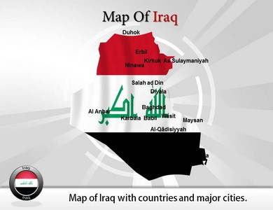 Map of Iraq  PowerPoint Templates